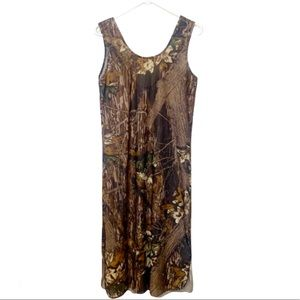Lady Wilderness Dress Brown Camouflage Woods Sm